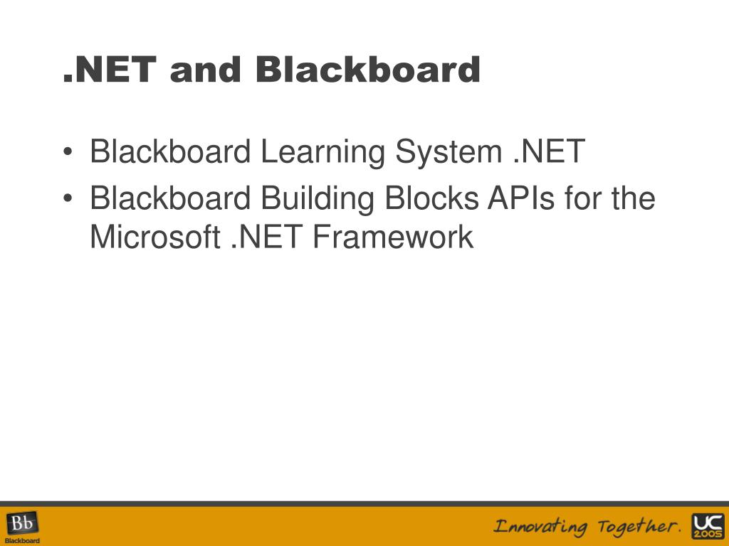 .NET and Blackboard