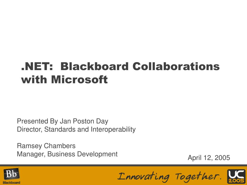 net blackboard collaborations with microsoft