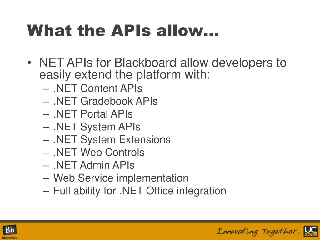 What the APIs allow…