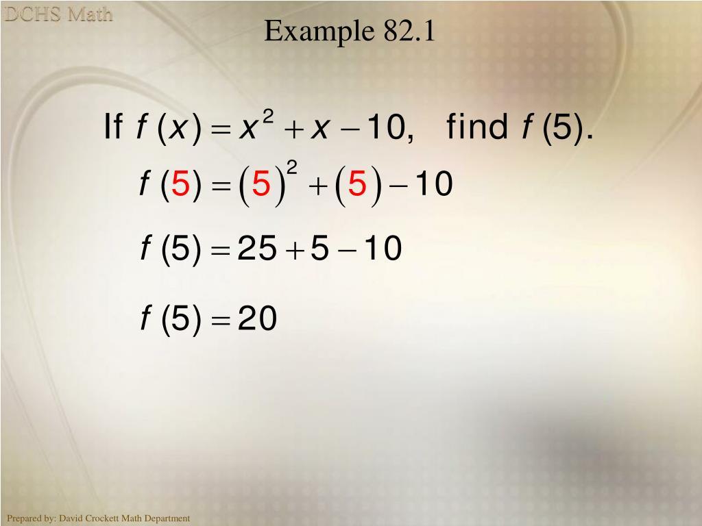 Example 82.1