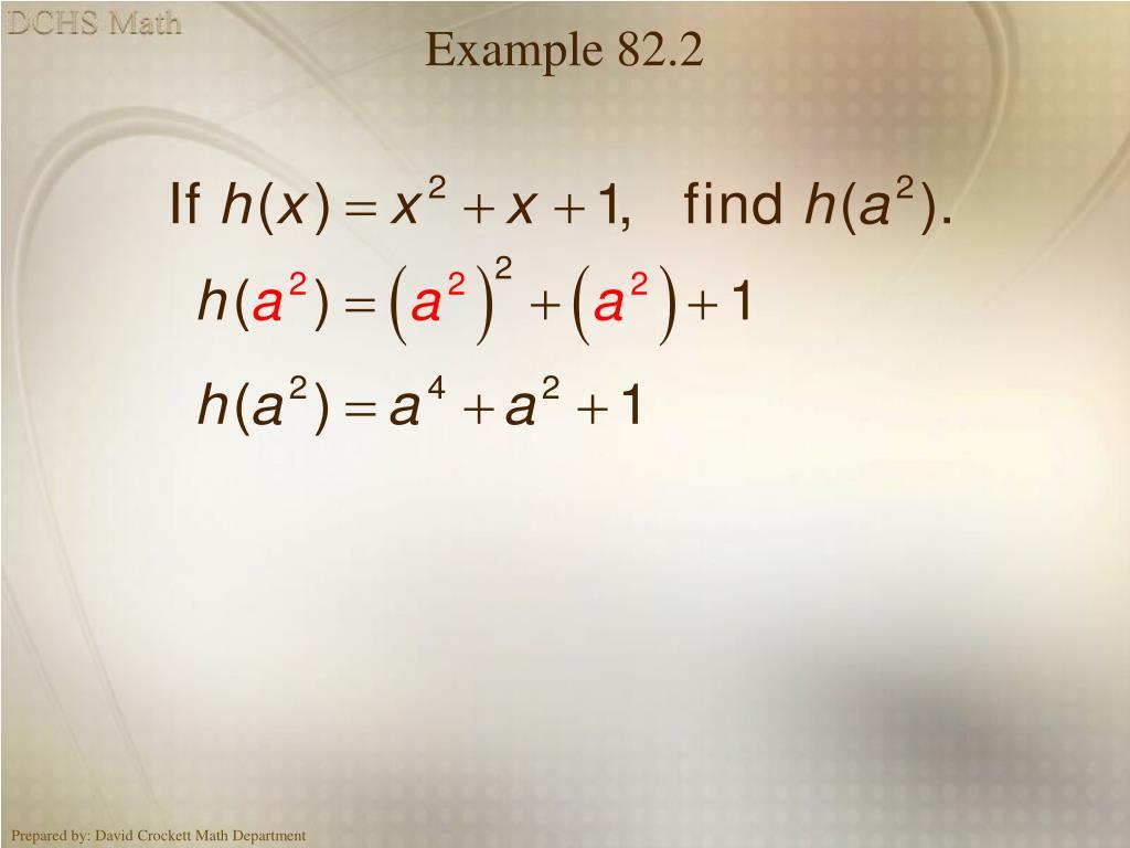 Example 82.2