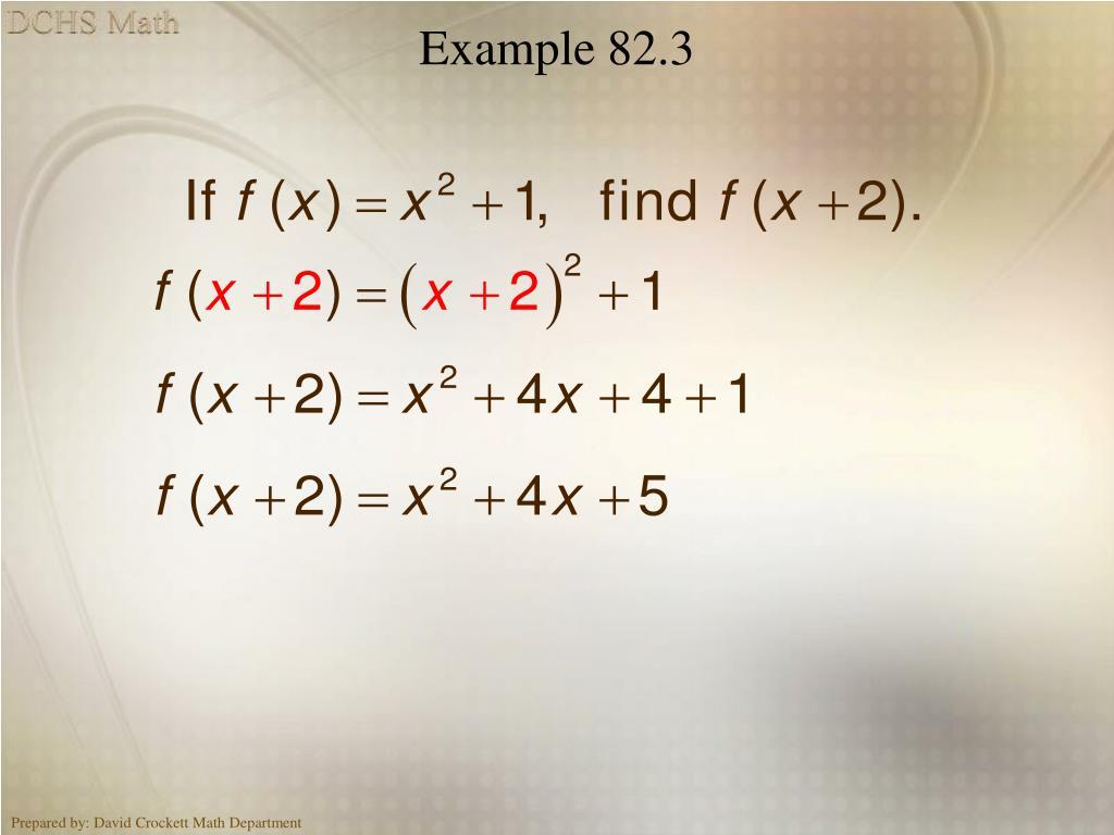 Example 82.3