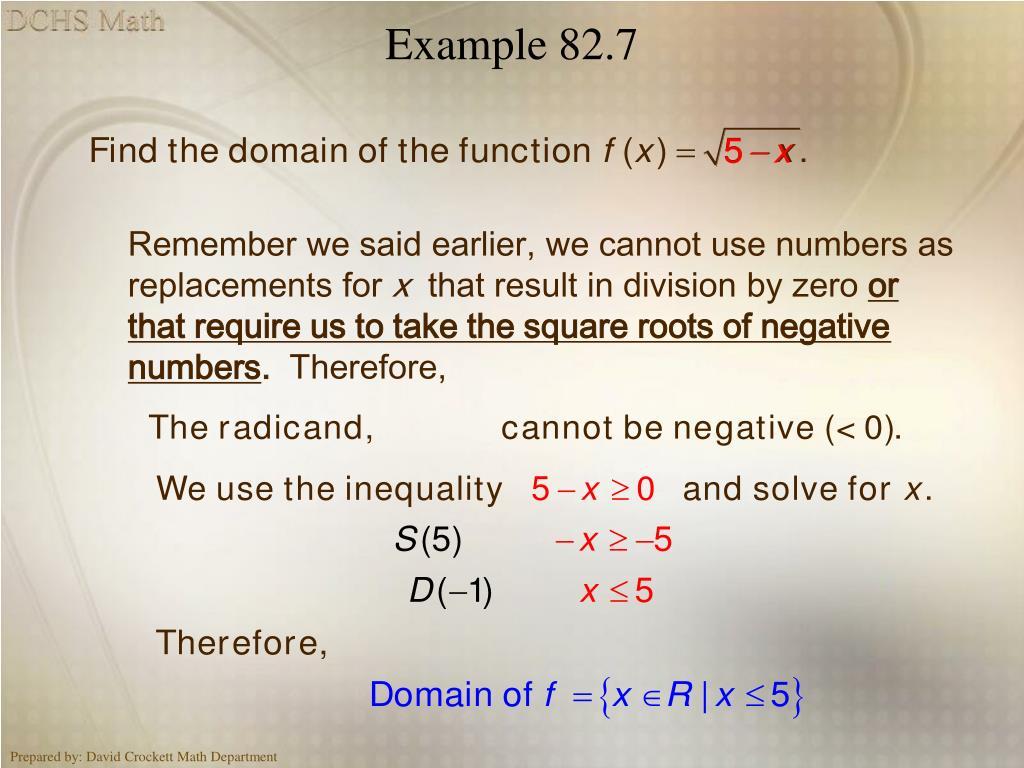 Example 82.7