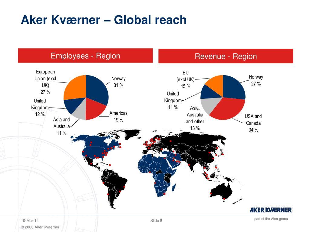 Aker Kværner – Global reach