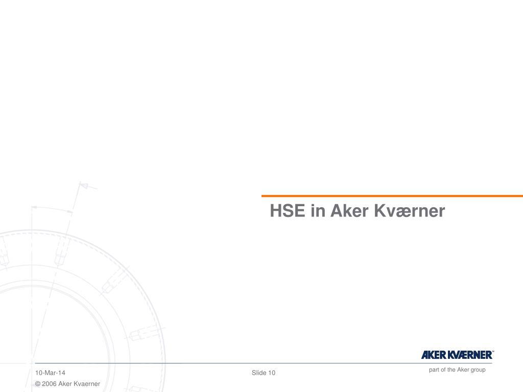 HSE in Aker Kværner
