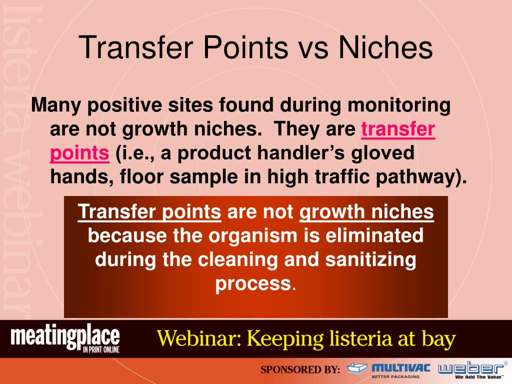 Transfer Points vs Niches