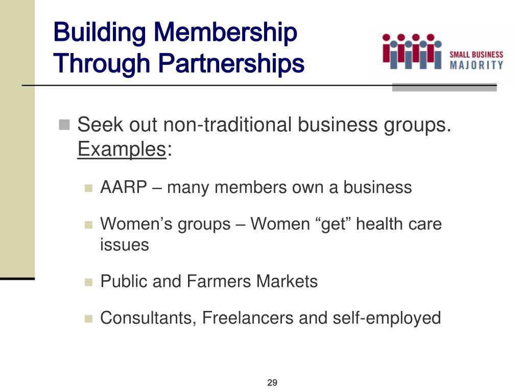 Building Membership Through Partnerships