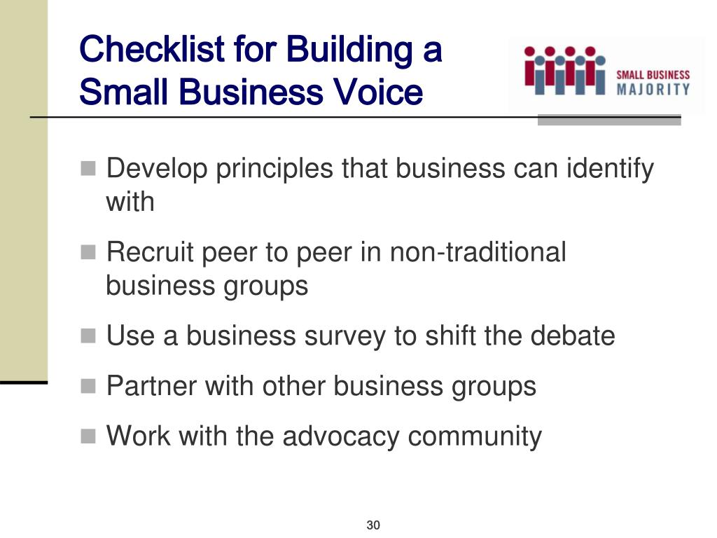 Checklist for Building a Small Business Voice
