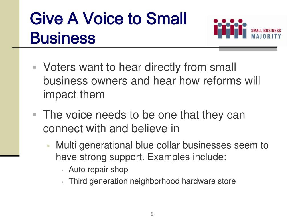 Give A Voice to Small Business