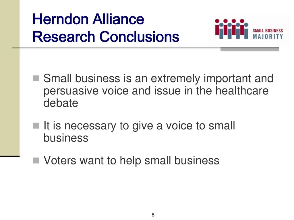 Herndon Alliance Research Conclusions