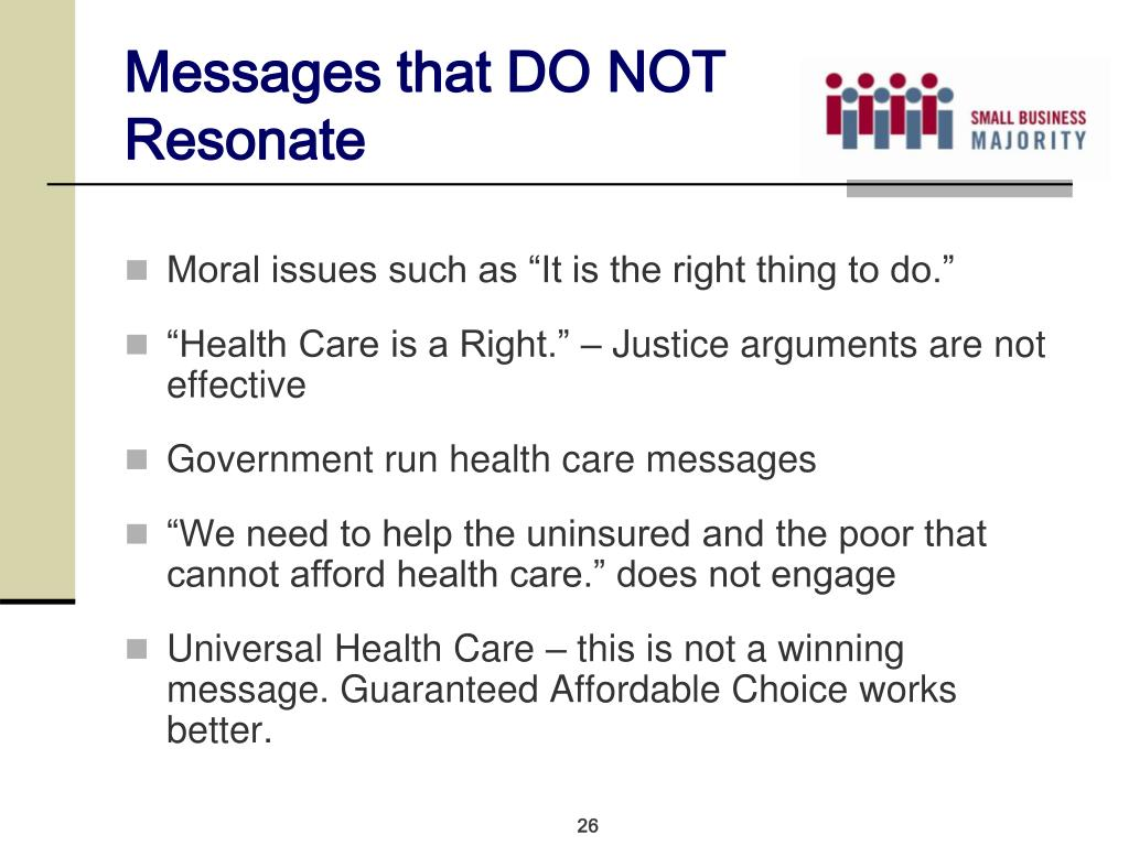 Messages that DO NOT Resonate