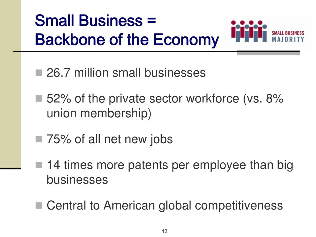 Small Business = Backbone of the Economy