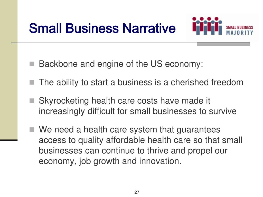 Small Business Narrative