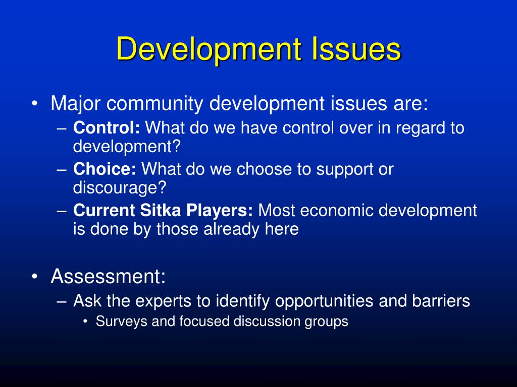 Development Issues