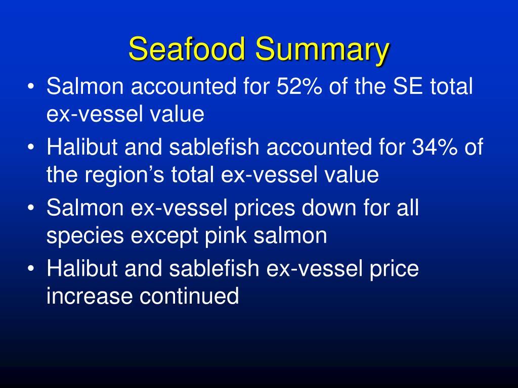 Seafood Summary
