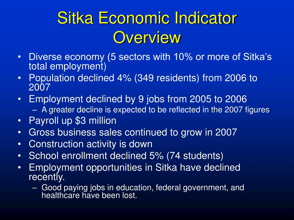 Sitka Economic Indicator