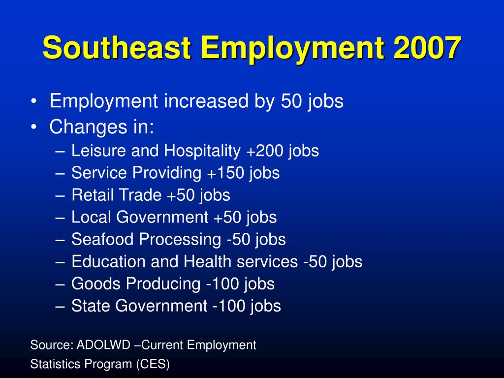 Southeast Employment 2007