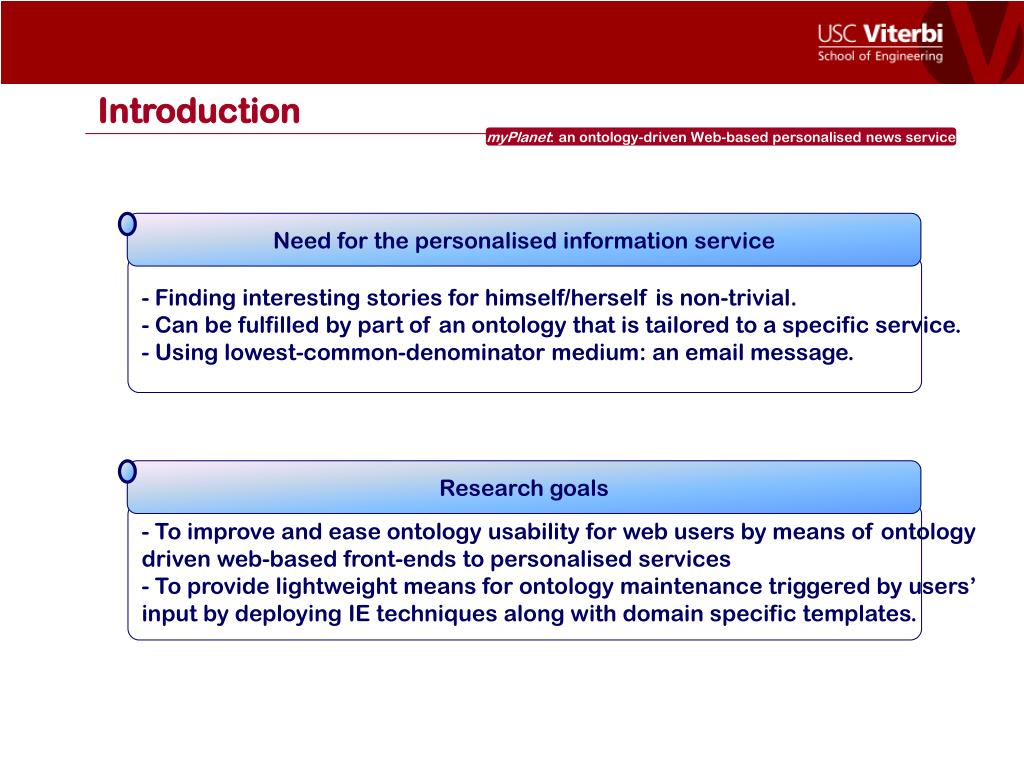 Need for the personalised information service