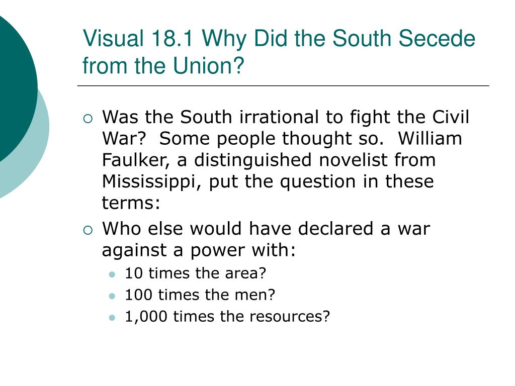 dbq why did south secede Essays - largest database of quality sample essays and research papers on what caused secession dbq.