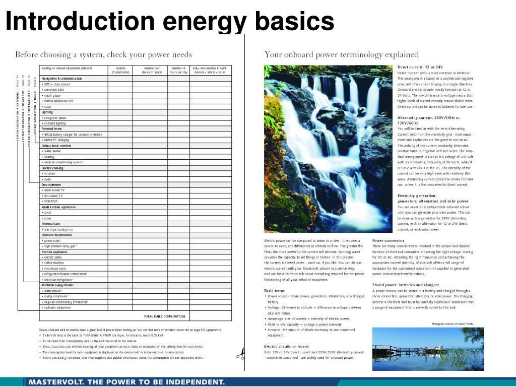 Introduction energy basics