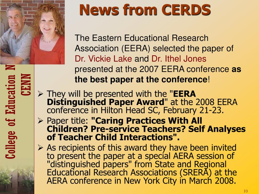 News from CERDS