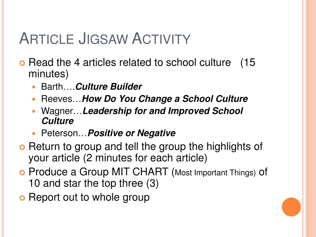Article Jigsaw Activity