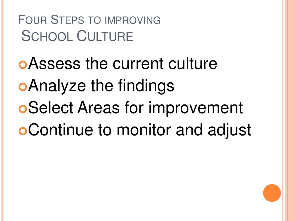 Four Steps to improving