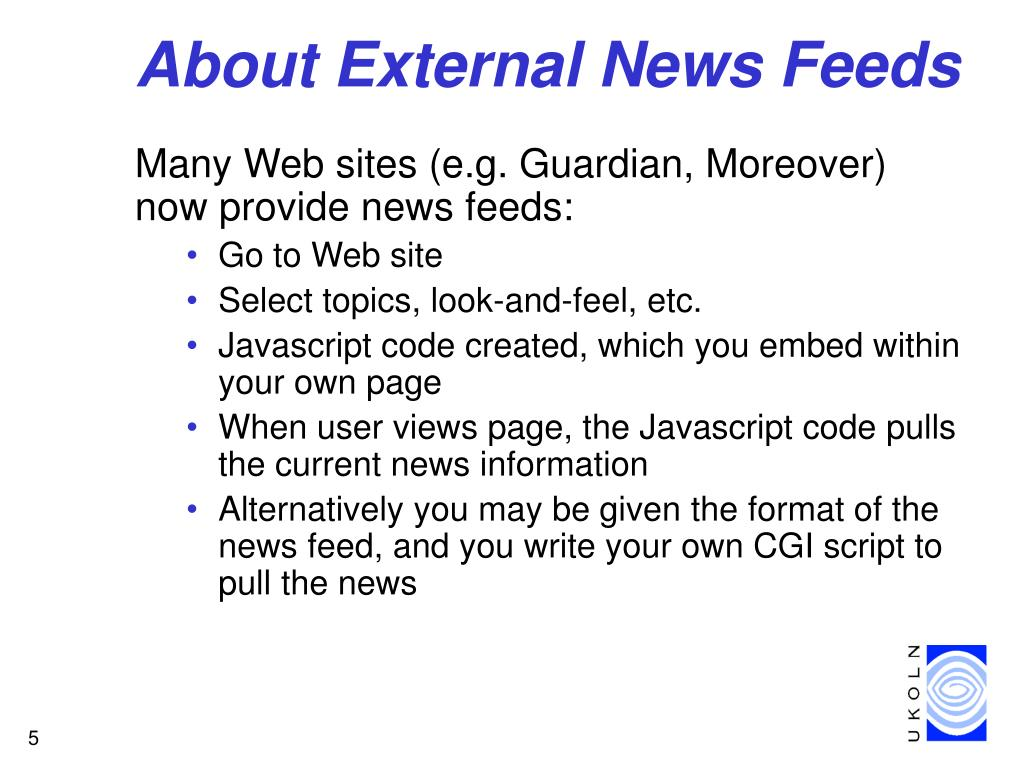 About External News Feeds