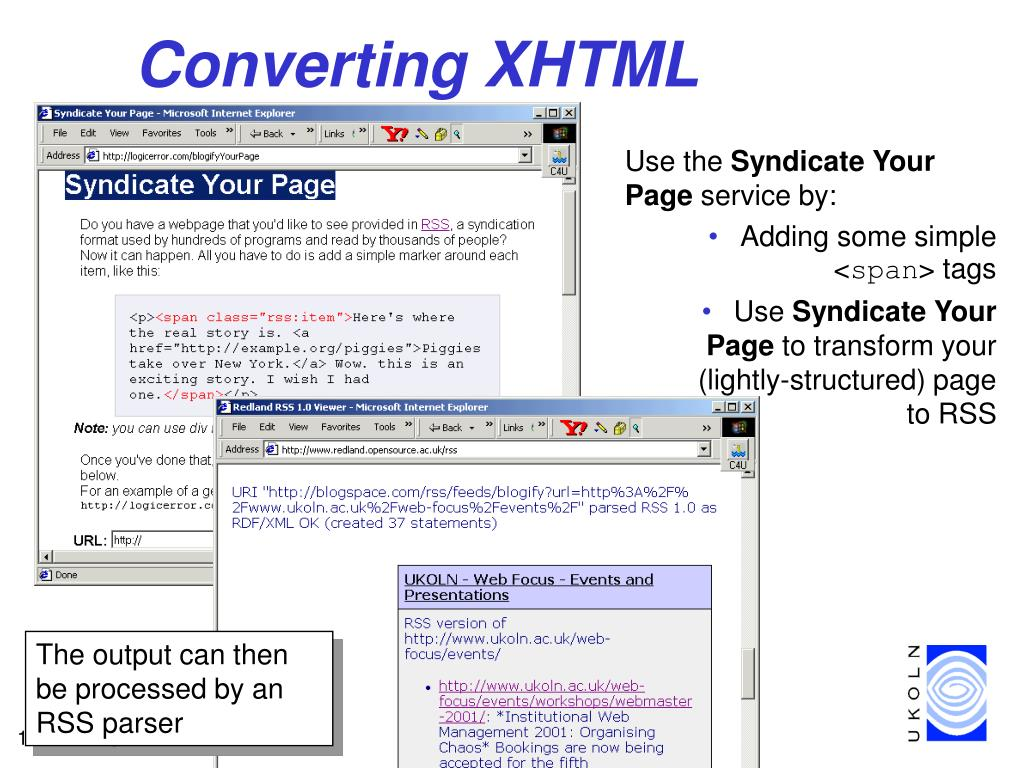 Converting XHTML