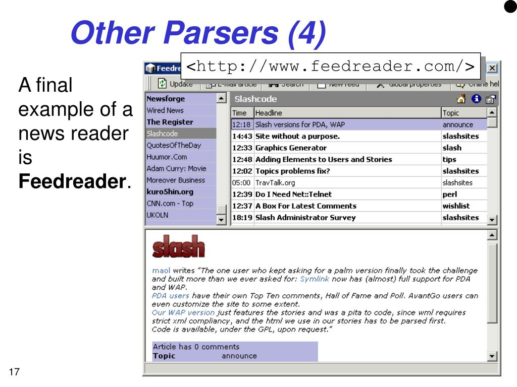 Other Parsers (4)