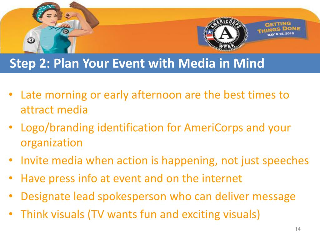 Step 2: Plan Your Event with Media in Mind