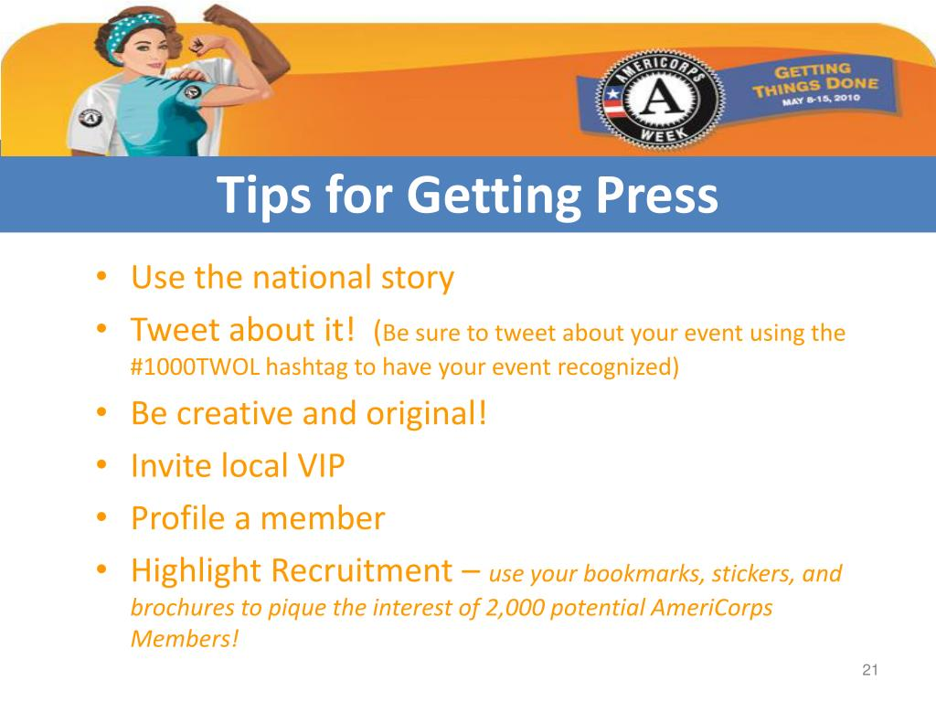 Tips for Getting Press