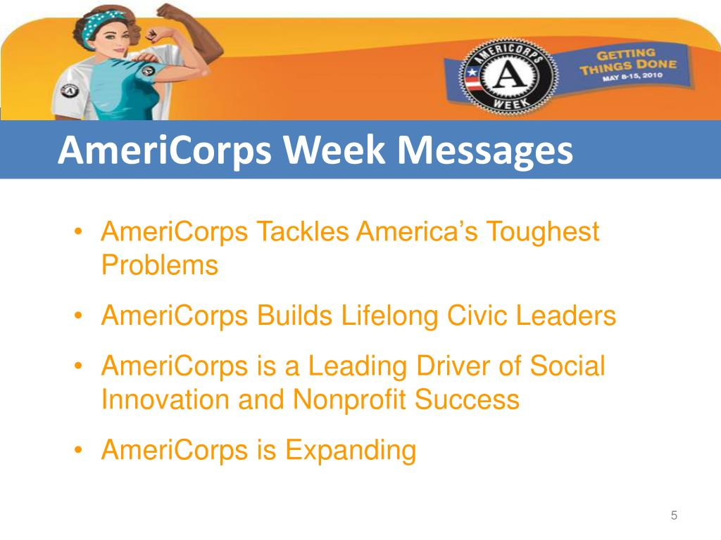 AmeriCorps Week Messages