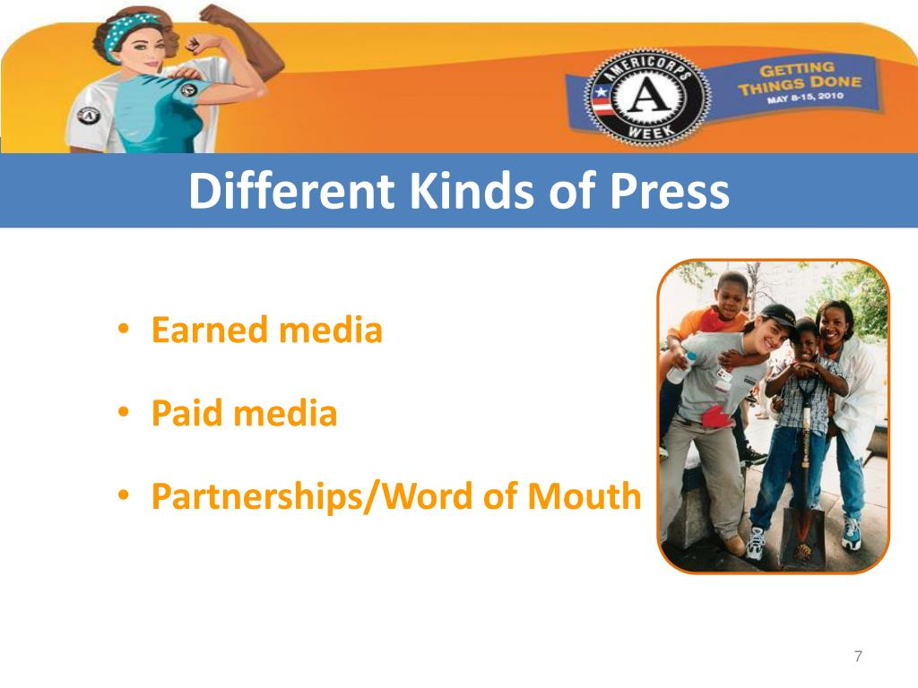 Different Kinds of Press