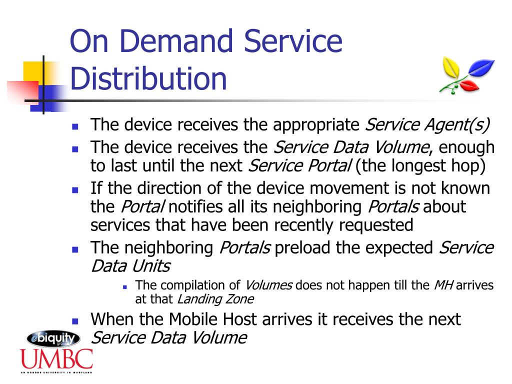 On Demand Service Distribution