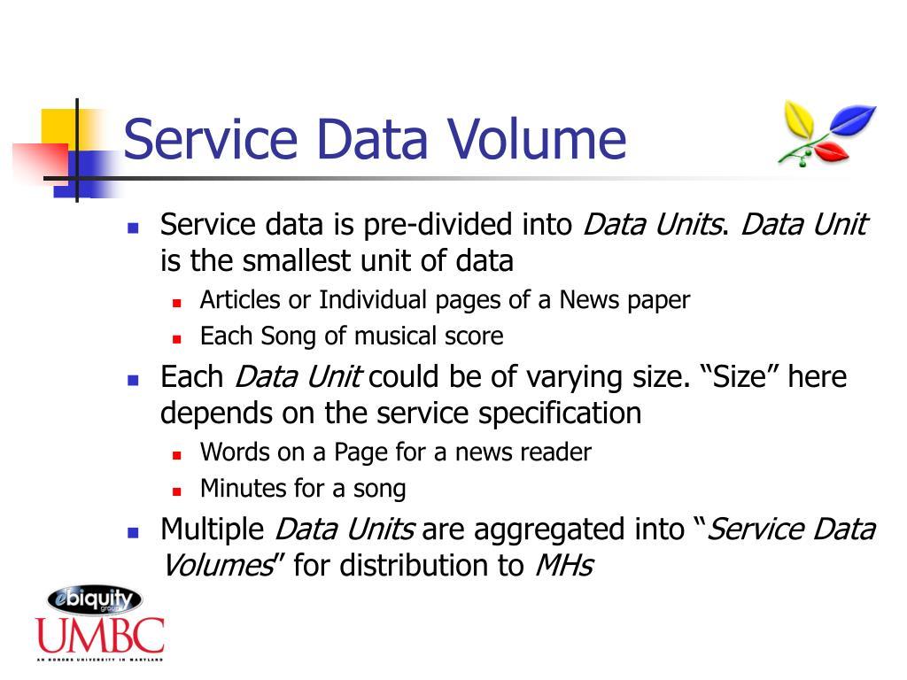 Service Data Volume