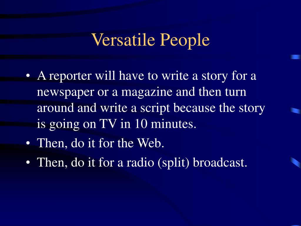 Versatile People