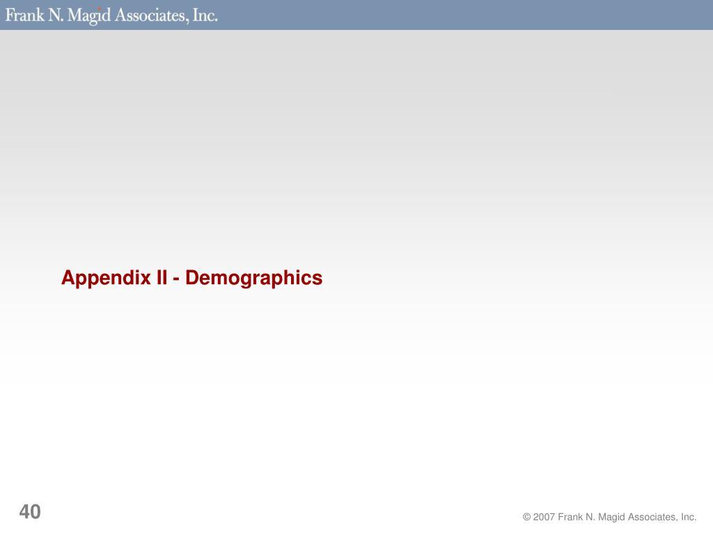 Appendix II - Demographics