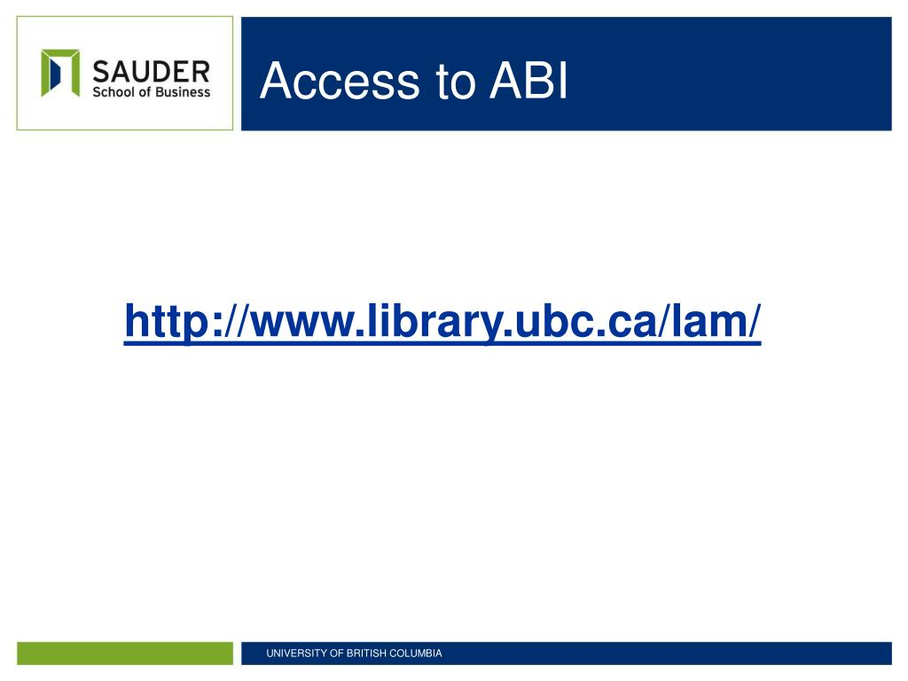 Access to ABI