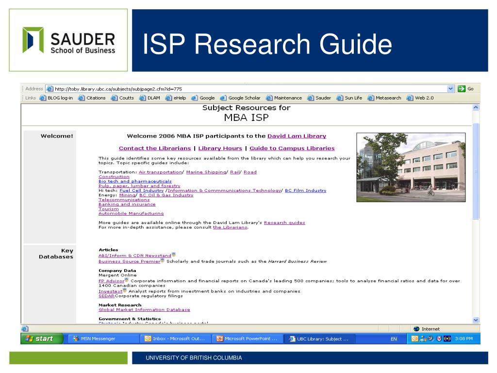ISP Research Guide