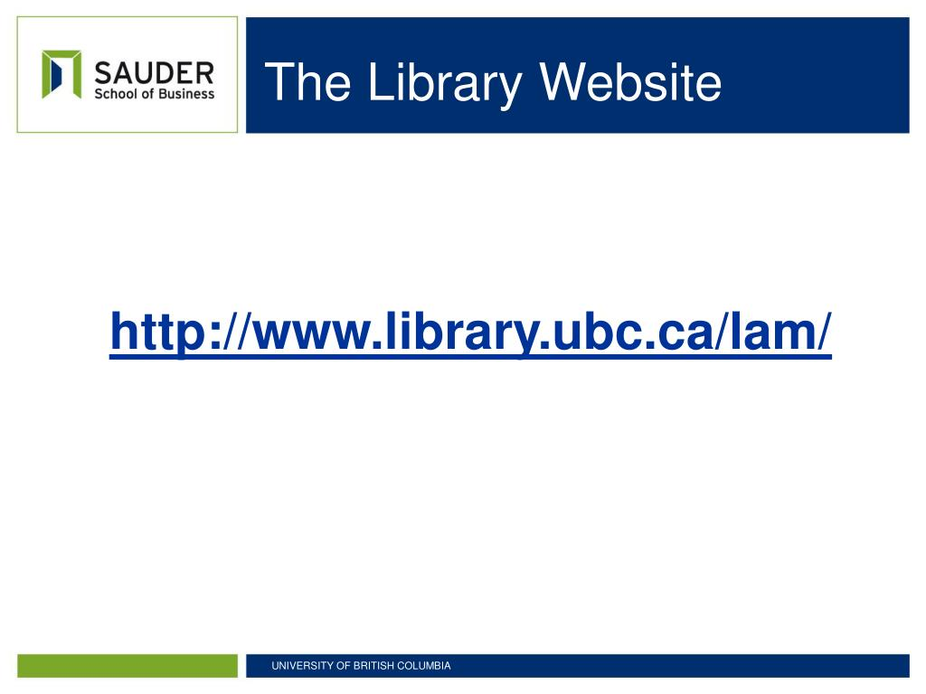 The Library Website