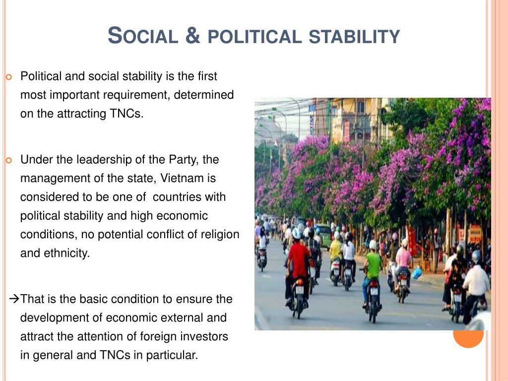 Social & political stability
