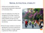 social political stability