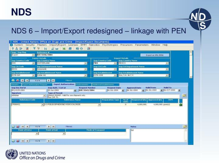 NDS 6 – Import/Export redesigned – linkage with PEN