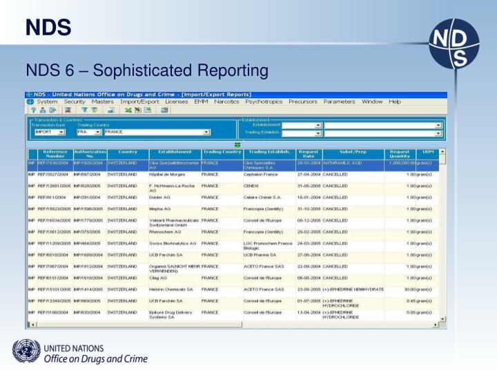 NDS 6 – Sophisticated Reporting