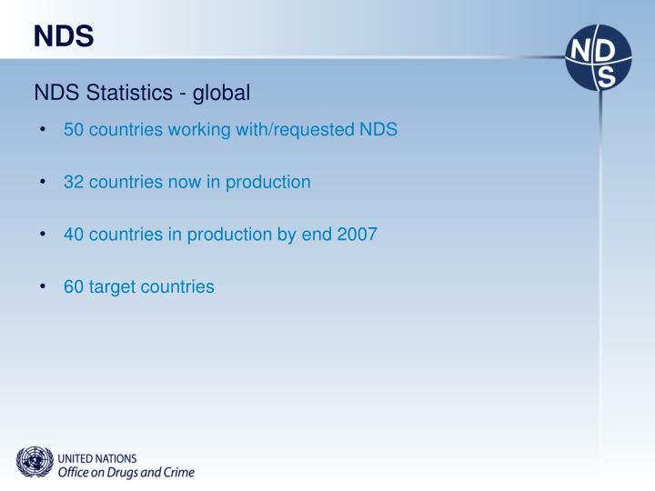 NDS Statistics - global