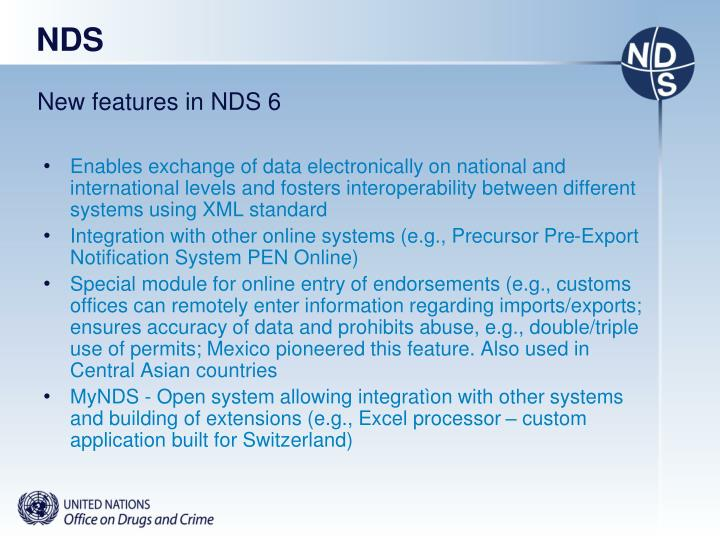New features in NDS 6
