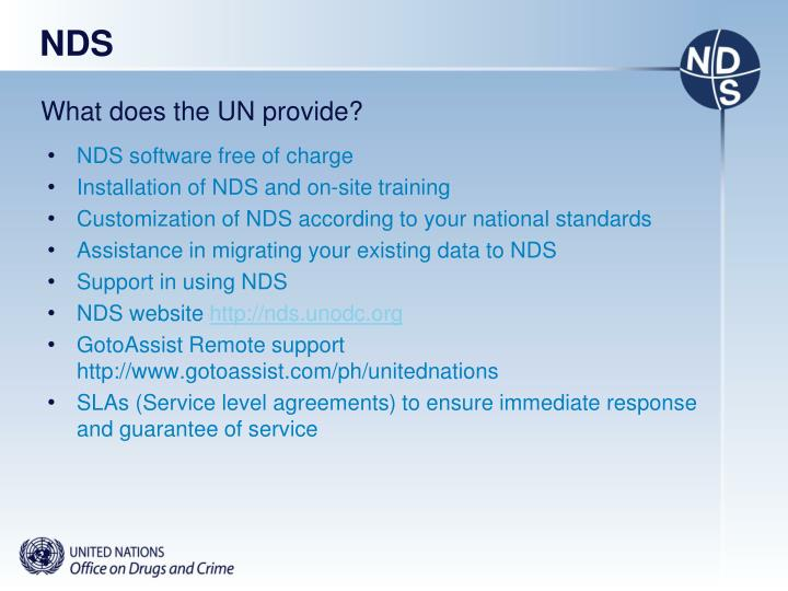 What does the UN provide?