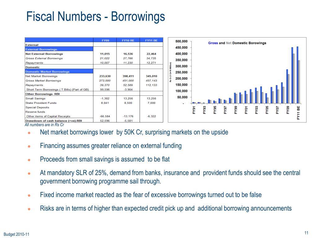 Fiscal Numbers - Borrowings