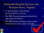 peninsula hospital services inc newport news virginia6